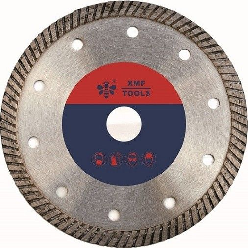 Narrow 9 Inch  Diamond Turbo Blade For Granite  Brick Asphalt Stone Long Life